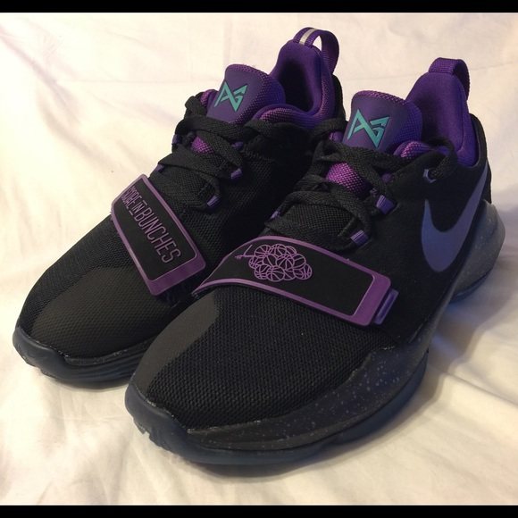 f618c3c40dc Nike PG 1 Grape Basketball Shoes GS black purple